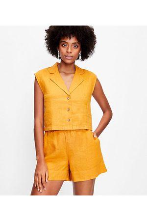 LOFT Women Shirts - Lou & Grey Linen Cap Sleeve Shirt