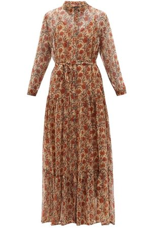 Mes Demoiselles Women Printed Dresses - Glaieul Floral-print Chiffon Shirt Dress - Womens - Multi