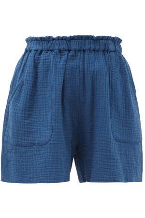 Loup Charmant Expedition Organic-cotton Shorts - Womens - Navy