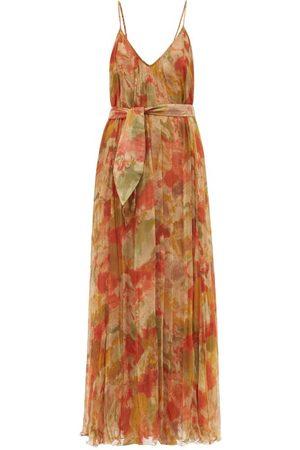 Mes Demoiselles Women Printed Dresses - Aubade Floral-print Cotton-voile Dress - Womens - Multi