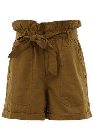 Mes Demoiselles Women Shorts - Croft Paperbag-waist Cotton Shorts - Womens