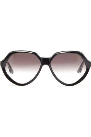 Victoria Beckham Oversized Round Acetate Sunglasses - Womens