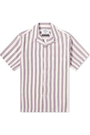 Portuguese Flannel Lavanda Stripe Vacation Shirt