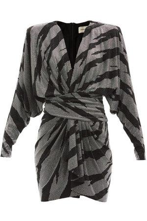 ALEXANDRE VAUTHIER Draped Crystal-embellished Jersey Mini Dress - Womens