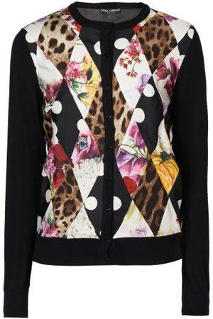 Dolce & Gabbana Montage-print Cashmere-blend Cardigan - Womens - Multi