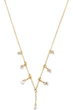 PERSÉE Diamond & 18kt Drop Necklace - Womens