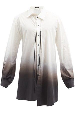 ANN DEMEULEMEESTER Asymmetric Oversized Ombré Cotton-poplin Shirt - Mens