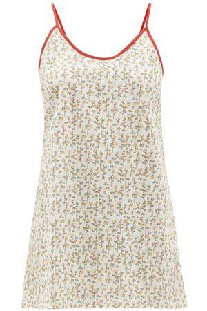Domi Women Printed Dresses - Shorty Floral-print Organic-cotton Slip Dress - Womens - Print