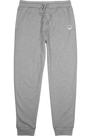 HUGO BOSS Men Sweatpants - X Russell Athletic Jafa grey cotton sweatpants
