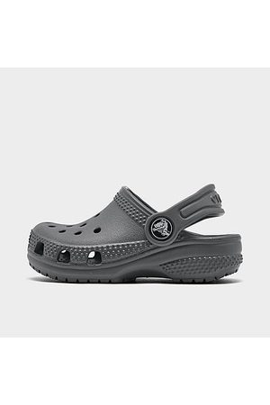 Crocs Clogs - Kids' Toddler Classic Clog Shoes in Grey/Slate Grey Size 10.0
