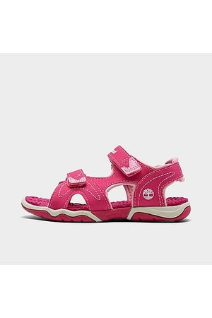 Timberland Sandals - Girls' Toddler Adventure Seeker 2-Strap Hook-and-Loop Sandals in /Hot Size 5.0 Leather