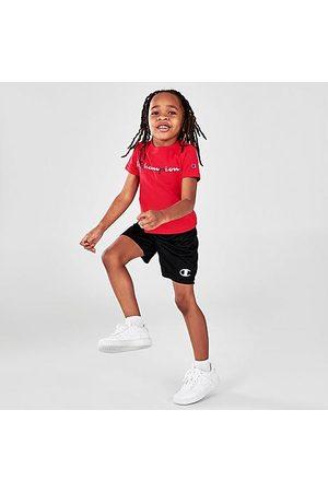 Champion Sets - Boys' Toddler Script Logo T-Shirt and Shorts Set in /Scarlet