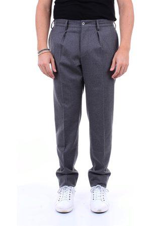 PT Torino Chino Men Grey virgin wool - polyester and spandex
