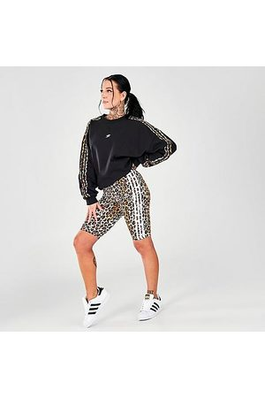 adidas Women Sports Shorts - Women's Originals Animal Print Bike Shorts