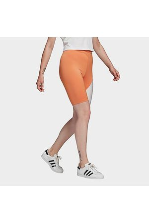 adidas Women's Originals Primeblue High Waisted Short Tights in /Hazy Copper Size X-Small Plastic