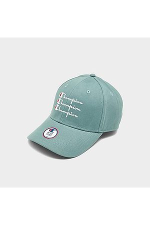 Champion Life Classic Twill Strapback Hat in /Teal 100% Cotton/Leather/Twill