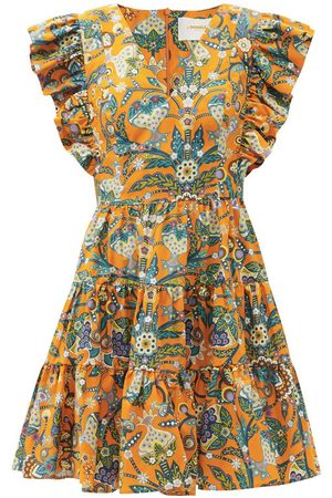 La DoubleJ Honeybun floral-print cotton-poplin mini dress
