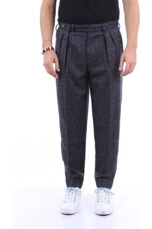 PT Torino Men Chinos - Chino Men Dark and wool - silk - polyamide and cashmere