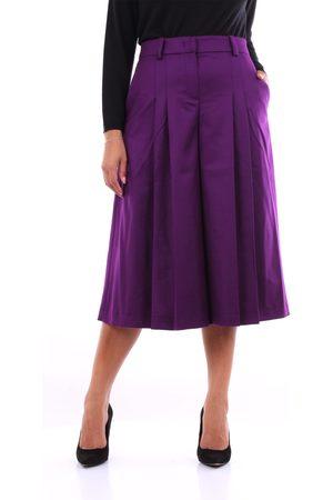 PT Torino Bermuda Women Violet wool - polyamide and elastane