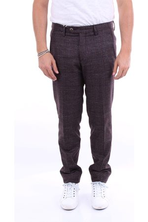MICHAEL COAL Chino Men Amaranth wool - polyester - cotton - cashmere