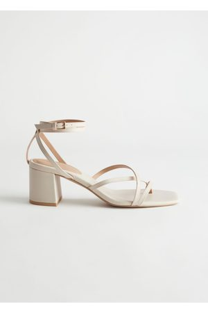 & OTHER STORIES Women Heeled Sandals - Strappy Leather Heeled Sandals
