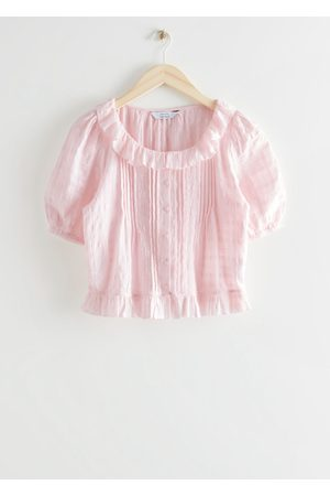 & OTHER STORIES Women Blouses - Buttoned Ruffle Lace Blouse