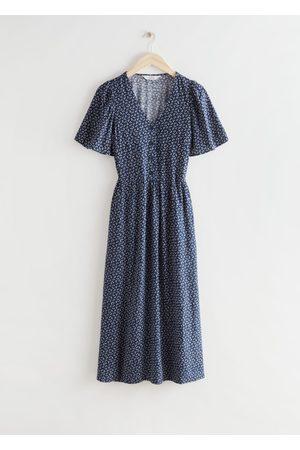 & OTHER STORIES Women Maxi Dresses - Flutter Sleeve Maxi Dress