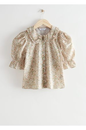 & OTHER STORIES Ruffle Collar Puff Sleeve Blouse