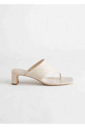 & OTHER STORIES Thong Strap Leather Mule Sandals