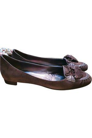 Salvatore Ferragamo \N Velvet Ballet flats for Women