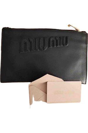 Miu Miu Miu Crystal Leather Clutch Bag for Women