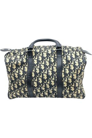 Dior Navy Cloth Handbags