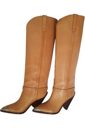 Isabel Marant Lamsy Leather Boots for Women