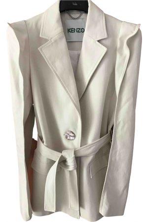 Kenzo Ecru Cotton Trench Coats
