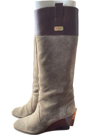 Salvatore Ferragamo \N Leather Boots for Women
