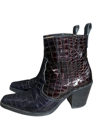 Ganni \N Leather Ankle boots for Women