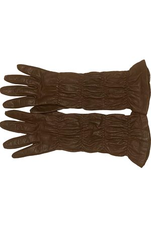 Miu Miu Women Gloves - \N Leather Gloves for Women