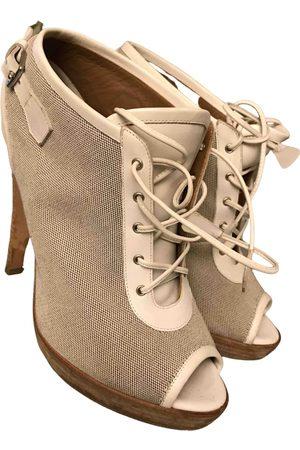 Hermès Leather lace up boots