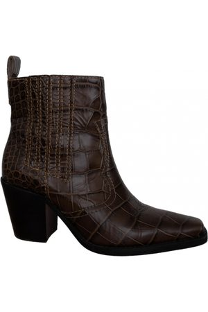 Ganni Fall Winter 2019 Leather Boots for Women