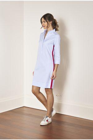 Eloise Oxford Shirtdress with Stripe