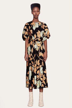 STINE GOYA Aubrie Lemon Print Dress
