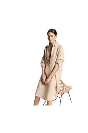 Riani Linen Oversized Shirt Dress Colour: Pale