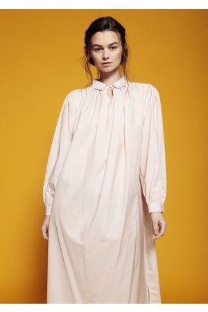 MARAINA LONDON Women Casual Dresses - CLARA light cotton pleated shirt dress