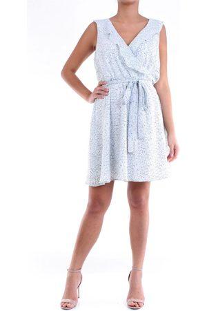 Molly Bracken WOMEN'S R1369CELESTEEBIANCO LIGHT POLYESTER DRESS