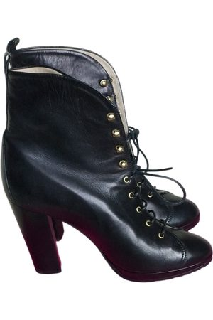 Max Mara Women Ankle Boots - Leather lace up boots
