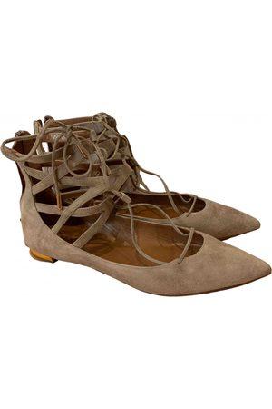 Aquazzura \N Suede Ballet flats for Women