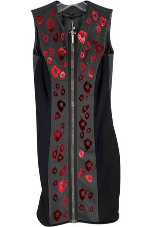 Anthony Vaccarello \N Leather Dress for Women