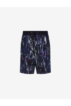 Armani Men Bermudas - Shorts Navy Cotton, Polyester
