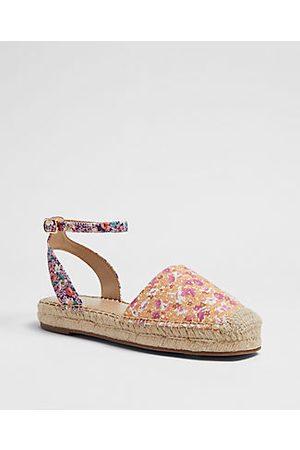 ANN TAYLOR Women Espadrilles - Isabella Floral Ankle Strap Espadrille Flats