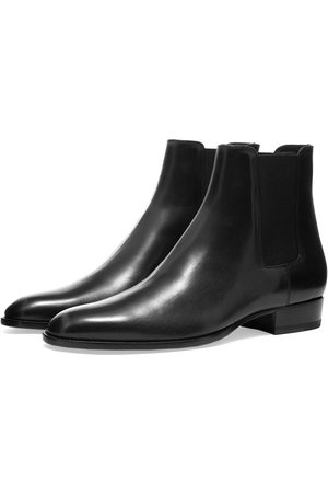 Saint Laurent Men Chelsea Boots - Wyatt 30mm Leather Chelsea Boot
